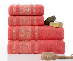 ixirhome Turkish Bamboo Towel Set,%70 Bamboo%30 Turkish Cott