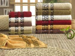 Turkish Bamboo Towel Sets, Washclothes Hand  Towels, 6 Piece