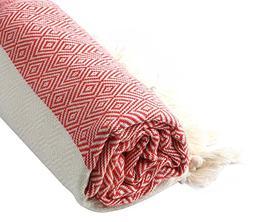 Cacala Turkish Cotton Diamond Weave Pestemal Bath Towel by R
