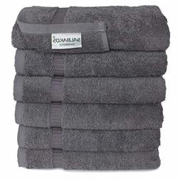 SALBAKOS Turkish Cotton Hotel & Spa Hand Towel Set, 16 by 30