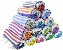Sale Set of 4 XL Turkish Hamam Peshtemal Cotton Bath Face To