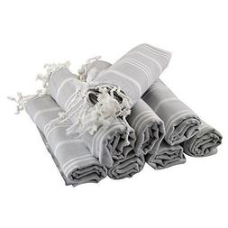 Turkish Hand Towel Set of 8 Organic Cotton Face Gym Spa Saun