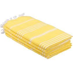 Set of 4 Turkish Hand Towels 100% Cotton 20 x 40 inc  Decora