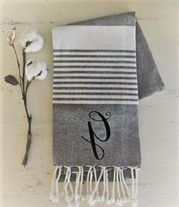 Turkish Towel Monogrammed | Monogrammed Linens | Kitchen Lin