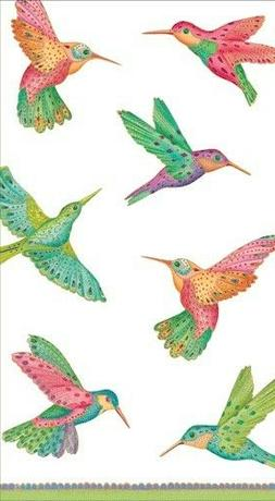 "TWO  Caspari ""Hummingbird"" Guest Towel Napkins Decoupage"