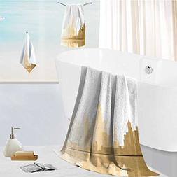 aolankaili Ultra Soft Bathroom Towels Set City Architecture