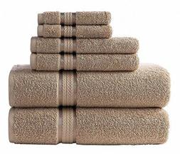 Cotton Craft Ultra Soft 6 Piece Towel Set Linen, Luxurious 1