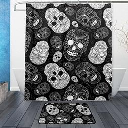 Unique Day of the Dead Floral Sugar Skulls Halloween Decor W