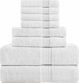 Utopia Towels Premium Cotton 8 Piece Towel Set White