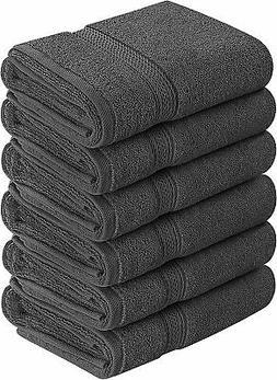 Utopia Towels Premium Grey Hand Towels - 100% Combed Ring Sp
