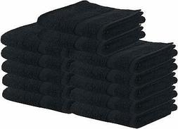 Utopia Towels Salon Towels, 24 Pack 16 x 27 Inches, Black Ha