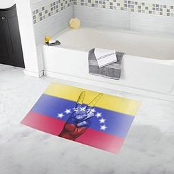 Venezuela Peace Hand Nation Banner Custom Non-slip Bath Mat