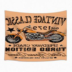 JAWO Vintage Classic Motorcycle Wall Hanging Decoration Tape