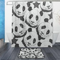 Naanle Vintage Panda with Stars Waterproof Polyester Fabric