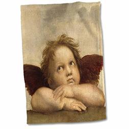3dRose VintageChest – Christmas - Raphael – Angel Left -