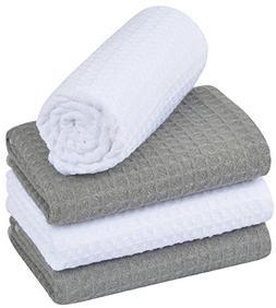 KinHwa Waffle Weave Dish Towels And Dish Cloths Ultra Absorb