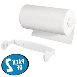 mDesign Wall Mount/Under Cabinet Plastic Paper Towel Roll Ho