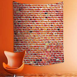 aolankaili Wall Tapestries Wall with Decorative Bricks Grung