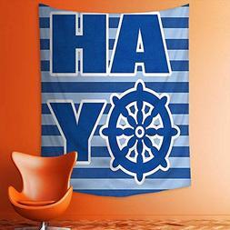 aolankaili Wall Tapestries a Boy Ahoy Written with Nautical
