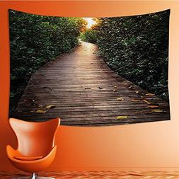 also easy Wall Tapestries Boardwalk In Mangrove Forest Sunli