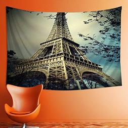 Analisahome Wall Tapestries eiffel tower in Paris Tapestry T