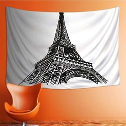 SOCOMIMI Wall Tapestries hand drawn eiffel tower paris vecto