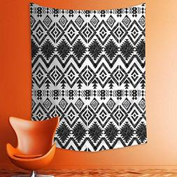 Wall Tapestries Hand Drawn Tribal Pattern Geometric and Deco