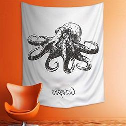 aolankaili Wall Tapestries Marine Wildlife Theme Octopus Ill