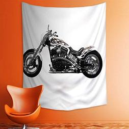 aolankaili Wall Tapestries Motorbike Power Hipster Style Sty