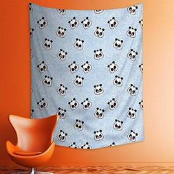 aolankaili Wall Tapestries Muzzles Panda Illustration with H