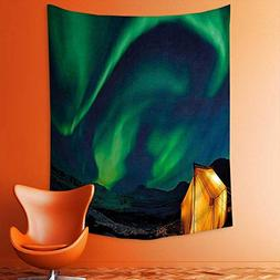 aolankaili Wall Tapestries Psychedelic Sky on Nordic Camping