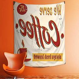 aolankaili Wall Tapestries Retro Style Tin Rusty Faded Fresh