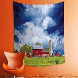 aolankaili Wall Tapestries Scenery View Warehouse Barn Clear