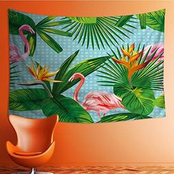 SOCOMIMI Wall Tapestries tropical_leaves_and_flowers_seamles