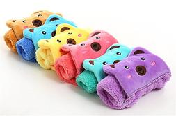 Washcloth Cute Animal Microfiber Small Towel Cartoon Absorbe