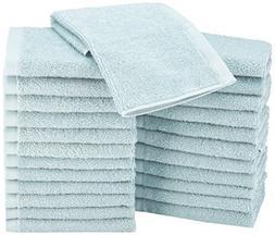 AmazonBasics Washcloth - Pack of 24, Ice Blue