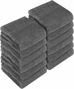 Washcloth Towel Set Pack of 12 Premium Cotton 700 GSM 12x12""