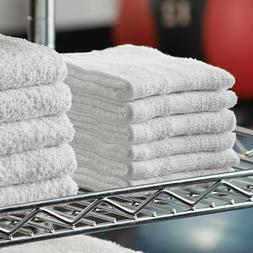 Washcloth White Towel 24Pcs  Face Cloth 12x12 Wash cloths Gy