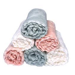 Baby Washcloths Plush Microfiber Baby Bath Towels Ultra Soft