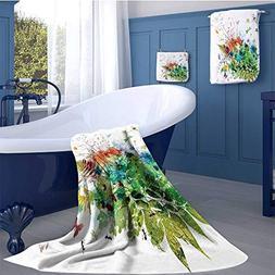 WolfgangDecor Watercolor Premium Cotton Extra Large Bath Tow