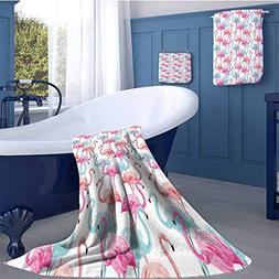 Watercolor Highly Absorbent Hotel Quality Towels Set Flaming