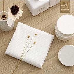 """F-BBKO 15-Pack White 100% Cotton Compressed Washcloths 8""""x16"""