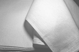 "Atlas White Huck Towels 16x26"" New"