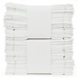 Bare Cotton #1 White Wash Cloths, 100% Natural Cotton, 12 x