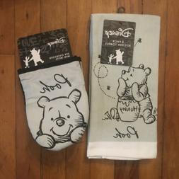 Disney WINNIE THE POOH 2-Pack Hand Towels & 2-Pack Oversized