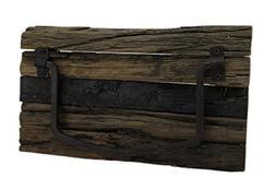 Zeckos Wood & Metal Towel Racks Rustic Weathered Wood And Me