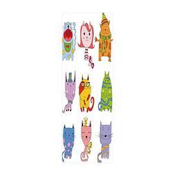 iPrint Yoga Towel, 100% Microfiber Yoga Mat Towel,Cat,Cute F