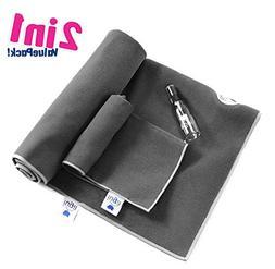 IUGA Yoga Towel, Extra Thick Hot Yoga Towel + Hand Towel 2 i