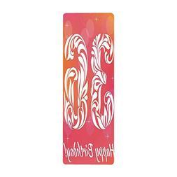 iPrint Yoga Towel, 100% Microfiber Yoga Mat Towel,36th Birth
