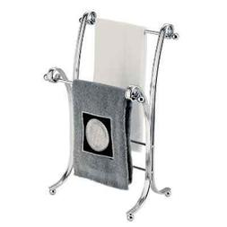 InterDesign York Lyra Fingertip Towel Stand, Chrome